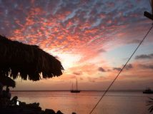 Sonnenuntergang Bonaire stockfotos