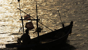 Sonnenuntergang, Boot, Dämmerung Stockfotografie