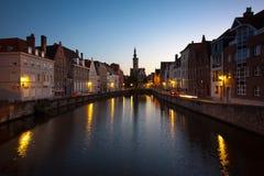 Sonnenuntergang in Brügge, Belgien Stockfotos