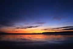 Sonnenuntergang in Bretagne stockbilder