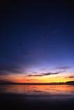 Sonnenuntergang in Bretagne lizenzfreies stockbild