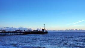 Sonnenuntergang - Brighton, London Stockbilder