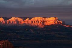 Sonnenuntergang in Bryce Nationalpark, USA Lizenzfreies Stockfoto