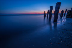 Sonnenuntergang-Bucht Stockfoto