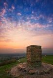 Sonnenuntergang Burton Dassett am Landpark Lizenzfreie Stockbilder
