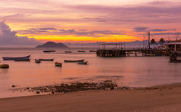 Sonnenuntergang in Buzios Rio de Janeiro Stockbilder