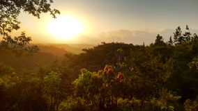 Sonnenuntergang in Cabuya Stockfoto
