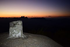 Sonnenuntergang in Caledonia Stockfotografie