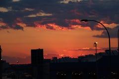Sonnenuntergang in Cambridge Stockfotos