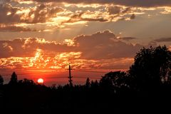 Sonnenuntergang in Cameron Park Stockfoto