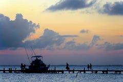 Sonnenuntergang in Cancun stockbilder