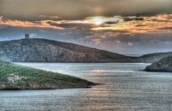 Sonnenuntergang am Capo Malfatano Lizenzfreies Stockbild