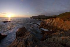 Sonnenuntergang in Carmel Lizenzfreie Stockbilder