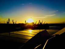 Sonnenuntergang in Casablanca stockbilder