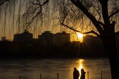 Sonnenuntergang in Chaoyang Stockfotografie