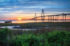 Sonnenuntergang Charleston South Carolina stockfoto