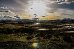 Sonnenuntergang in Chile lizenzfreie stockbilder