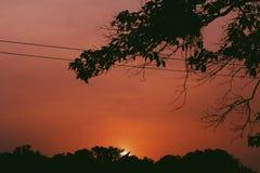 Sonnenuntergang chilox lizenzfreie stockfotografie