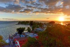 Sonnenuntergang - Cienfuegos, Kuba lizenzfreie stockbilder