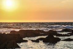 Sonnenuntergang in Cies Lizenzfreies Stockfoto