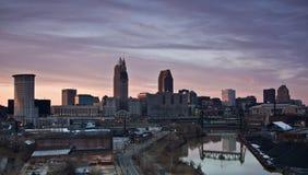 Sonnenuntergang in Cleveland lizenzfreies stockbild