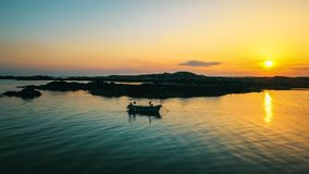 Sonnenuntergang Clifden Irland lizenzfreies stockfoto