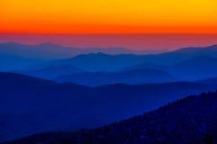 Sonnenuntergang an Clingmans Haube Stockfoto