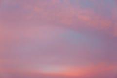 Sonnenuntergang Cloudscape Lizenzfreie Stockfotografie