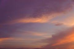 Sonnenuntergang Cloudscape Lizenzfreies Stockbild