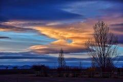 Sonnenuntergang Colorados Loveland Lizenzfreie Stockfotos