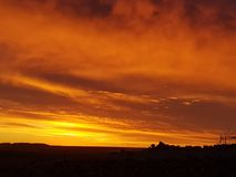 Sonnenuntergang Coober Pedy extrahieren Süd-schöne Farben Australiens absolut fast wie Malerei lizenzfreie stockbilder