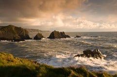 Sonnenuntergang in Cornwall Lizenzfreies Stockfoto