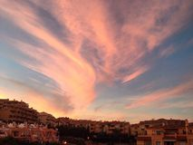 Sonnenuntergang in Costa del Sol Stockfoto