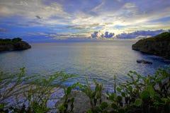 Sonnenuntergang Curaçao stockbilder