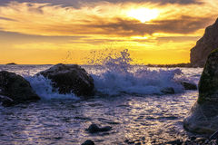 Sonnenuntergang, Dana Point, Kalifornien Stockfoto