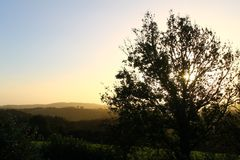 Sonnenuntergang in Dartmoor Stockbild