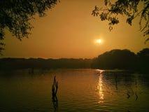 Sonnenuntergang in Delhi lizenzfreie stockfotografie