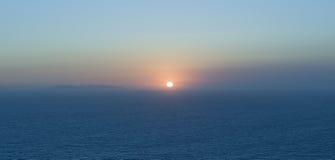 Sonnenuntergang in dem italienischen Meer Lizenzfreie Stockfotografie