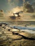 Sonnenuntergang in dem Meer Stockfoto