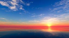 Sonnenuntergang in dem Meer Lizenzfreie Stockfotos