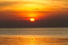 Sonnenuntergang in dem Ozean Stockbilder