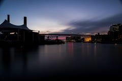 Sonnenuntergang an den Ebenen - Cleveland, Ohio Stockfotografie