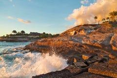 Sonnenuntergang an den Felsen Lizenzfreies Stockfoto