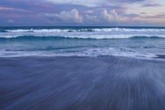 Sonnenuntergang in den südlichen äußeren Banken, Emerald Isle, North Carolina lizenzfreies stockfoto