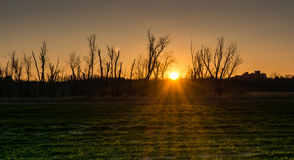 Sonnenuntergang an den Wiesen lizenzfreie stockbilder