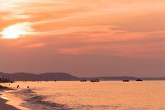 Sonnenuntergang in der Bucht Lizenzfreie Stockfotografie