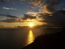Sonnenuntergang an der Dobra Voda Lizenzfreie Stockbilder