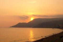 Sonnenuntergang der Erwartung Lizenzfreies Stockfoto