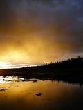 Sonnenuntergang an der Küste Stockfoto