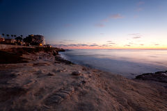 Sonnenuntergang an der La- Jollabucht Lizenzfreies Stockfoto